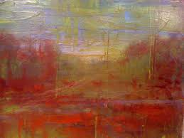 to my painting pal and me it looks like one of those old world masters paintings trees road into the distance etc this is still at her house drying