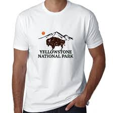 yellowstone national park thanksgiving national park bison 70s retro design men u0027s t shirt