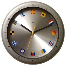 themed clock aquamaster waterproof wall clock with nautical flags