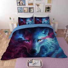 wolf bed set wolf bedding sets white bed