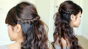 prom hair half up half down curly hairstyles half up down back