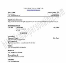 Free Fillable Resume Templates Resume Example Blank Resume To Print Free Blank Resume Pdf Blank