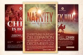 christmas church flyer bundle flyer templates creative market