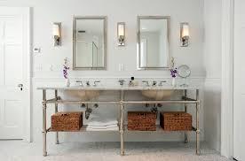 Bathroom Mirrors Contemporary Bathroom Mediterranean With Master - Bathroom mirrors for double vanity