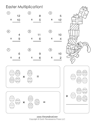 easter math worksheets u2013 easter multiplication kids maths