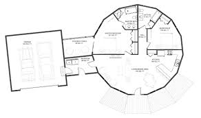 Round Homes Floor Plans by Floorplan Example 1261 Sqft Round Homes Deltec Homes