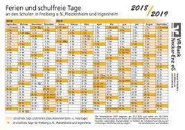 Ferienkalender 2018 Bw Schillerschule Ingersheim Termine