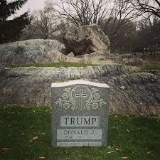 gravestone maker donald tombstone appears and swiftly disappears in central