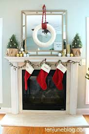 fireplace mantel christmas decorating ideas photos decorations