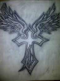 cross wings tattoo art and designs page 2