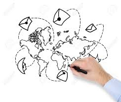 world map image drawing drawing world map on paper stock photo picture and royalty