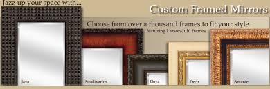 Custom Framed Bathroom Mirrors Cool Custom Bathroom Mirrors Framed And Bathroom Mirror Ideas