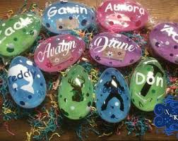 personalized easter eggs items similar to jumbo easter eggs painted personalized with