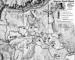 Map Of Glacier National Park Yosemite National Park Winter Maps