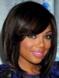 beautiful short thick haircut for round faces african american 5