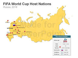 russia world cup cities map fifa world cup host nations powerpoint map editable ppt