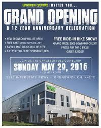 Showroom Invitation Card Fuel Cleveland Lowbrow Customs U0027 12th Anniversary U0026 Grand Opening