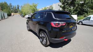 jeep compass 2017 black 2017 jeep compass trailhawk diamond black ht668103 redmond