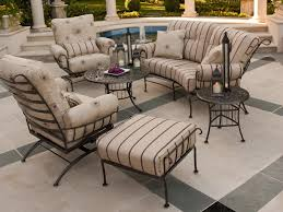 furniture black wrought iron patio furniture with fireplace in