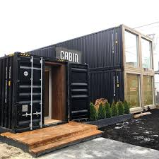 shipping container showroom cabin toronto retail container