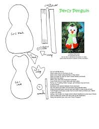 Felt Penguin Christmas Ornament Patterns - percy penguin diy u0026 crafts free pattern u0026 template pinterest