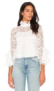 lace tops blouses white and black shirts