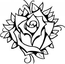 rose line drawing clip art rose drawing tattoo design ideas rose