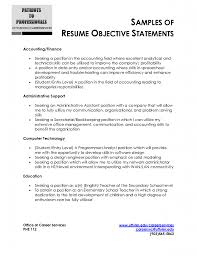 Academic Advising Cover Letter Career Objectives For Resume For Engineer