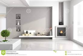 minimalist living room with fireplace stock photo image 35250460
