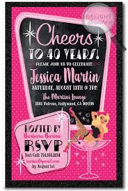 40th birthday invitations for her 40th birthday invitations for