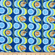 disney finding nemo flannel blue discount designer fabric