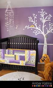 Gray And Yellow Nursery Decor 49 Purple Baby Rooms Modern Baby Room Purple With