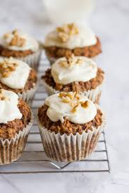 healthy carrot cake muffins wholefully