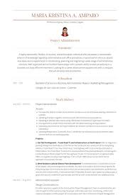 Project Management Resume Examples by Project Administrator Resume Samples Visualcv Resume Samples