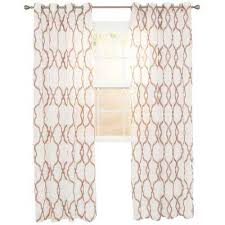Sheer Embroidered Curtains Grommet Brown Sheer Curtains U0026 Drapes Window Treatments