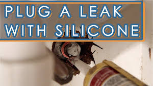 how to fix a leaking faucet with silicone sealant youtube