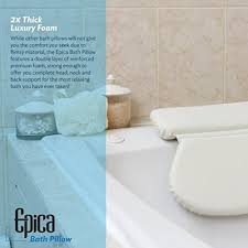 Bathtub Cushion Seat Amazon Com Epica 2x Thick Luxury Spa Bath Pillow Supergrip