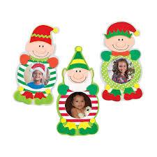 christmas elf picture frame magnet craft kit orientaltrading com