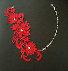 red necklace women images Exotic red women lace choker necklace chic lace choker for women jpg