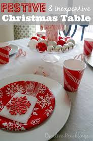 red and silver christmas table settings festive and inexpensive christmas table creative ramblings