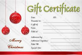 doc 800607 christmas certificates templates free u2013 simple