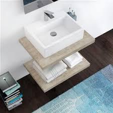 mensola lavabo da appoggio piano d appoggio da 70 cm per lavabi bagno design sospeso effetto