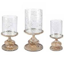 Hurricane Candle Holders Gg Collection White Washed Pedestal Hurricane Candle Holder Large