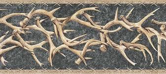 western deer antlers wallpaper border ta39015b ebay