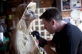 makeup school michigan zombies take to downtown flint to thriller commercial in
