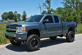 light blue color lifted chevrolet silverado truck truck pinterest