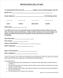 Auto Dealer Bill Of Sale Template by Auto Bill Of Sale Template 6 Free Excel Pdf Documents