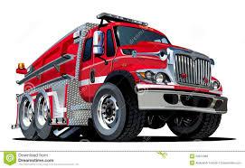 vector cartoon fire truck royalty free stock photos image 29874388