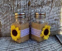 sunflower wedding salt u0026 pepper shakers rustic country