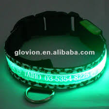 Light Up Dog Collar Glowing In Dark Dog Leashes And Collars Light Up Dog Collar And